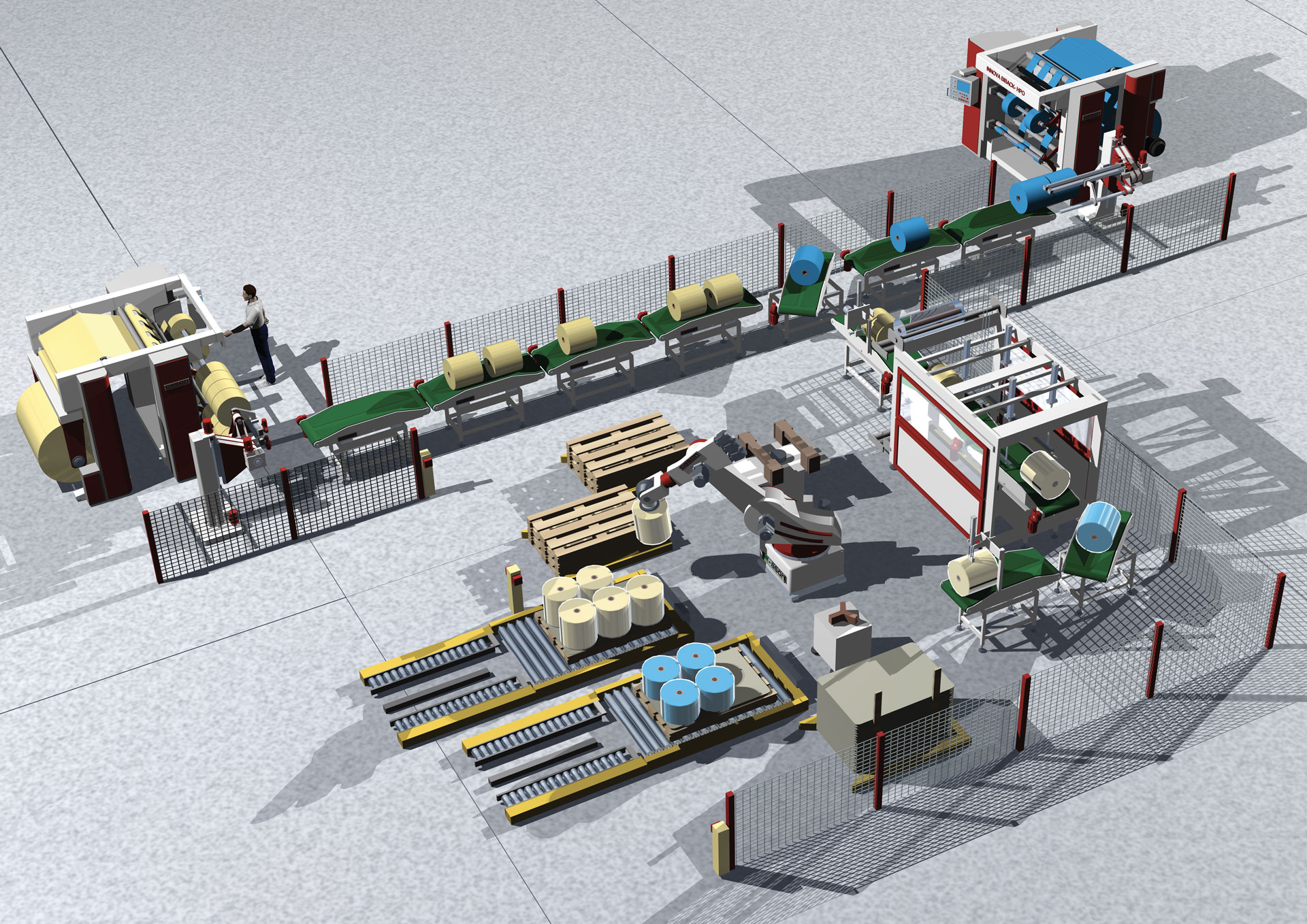 Full Automatic Plant for Multiple Productions - Handling Machines - Cason Companies